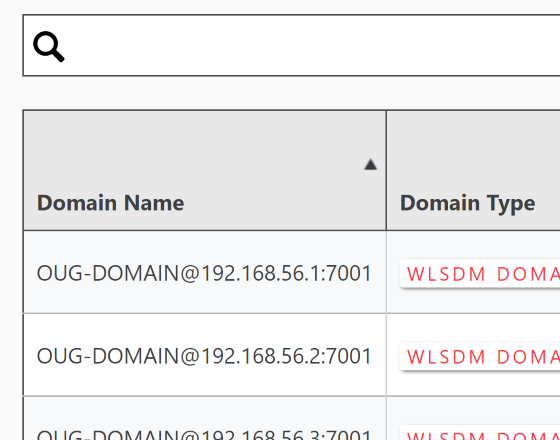 WLSDM | WL-OPC WebLogic Domain Asset Management Inventory
