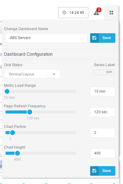WebLogic Server Metric Dashboards WLSDM Smart Dashboard Overview Configuration