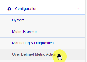 WLSDM Actions: User Defined Metric Actions