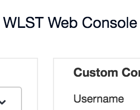 WLST Web Console